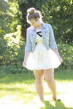 Love it! Simple & Sweet Plus size fashion