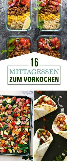 16 meal prep ideas that you can easily prepare on weekends .- 16 Meal-Prep-Ideen, die du lässig am Wochenende vorbereiten kannst 16 meal prep ideas that you can easily prepare on weekends - Clean Eating Recipes, Clean Eating Snacks, Lunch Recipes, Cooking Recipes, Dinner Recipes, Cooking Games, Cooking Tips, Make Ahead Lunches, Prepped Lunches