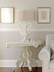 2 tone walls with chair rail - Google Search