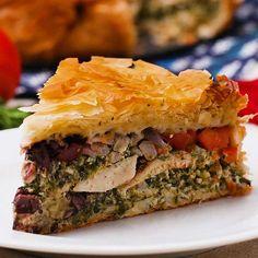 Chicken Spinach Feta Pie Recipe by Tasty