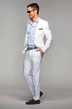 Have to try more white suits