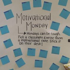 Starting each week lifting up members of the class could go a long way. I love this idea and what it would do for both classroom community and motivation. Classroom Organization, Classroom Management, Classroom Ideas, White Board Organization, Classroom Routines And Procedures, Teacher Hacks, Br Games, Bell Work, Responsive Classroom