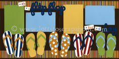 It's A Flip Flop Kind Of Day Scrapbook Page Kit :: Lotts To Scrap About - Your Online Source for Scrapbook Page Kits!