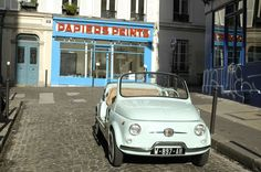 Fiat 500, Montmartre Paris, Pitch, Convertible, Transportation, Classic Cars, Automobile, Vehicles, Vintage