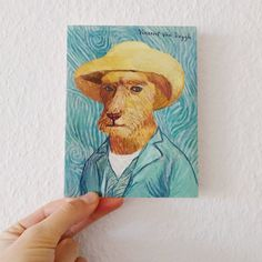 One of our range of doggy takes on art history: Vincent Van Doggh. Sending a greeting card is a time-honored way to stay in touch. So John, the artist behind all things Artiphany, has made a whole range of cards for every occasion.  Buy this one here: https://www.artiphany.com/collections/greeting-cards/products/vincent-van-doggh