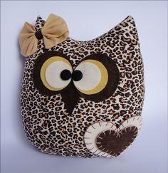 Almofada decorativa mamãe coruja Tecido: tricoline 100% algodão  Enchimento…