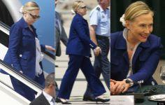 Hillary Clinton w/ a scrunchie
