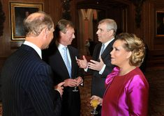 Henri, Grand Duke of Luxembourg and his wife Maria talk to the Earl of Wessex and the Duke of York during the Queen's Diamond Jubilee Sovereign Monarchs' lunch at Windsor Castle in Princess Alexandra, Princess Charlene, Prince And Princess, Duke And Duchess, Duchess Of Cambridge, Crown Prince Of Thailand, Prince Of Monaco, Prince Frederik Of Denmark, Hm The Queen