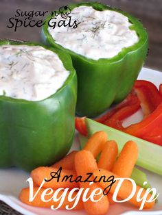 Amazing Veggie Dip ~ great way to display the dip at a party, too.