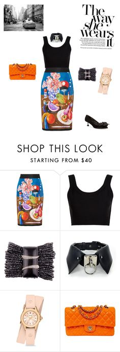 """Untitled #31"" by palak-obhan ❤ liked on Polyvore featuring Prada, Calvin Klein Collection, Michele, Chanel and Miu Miu"