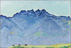 Фердинанд Ходлер в Базеле - Журнал Вовы Поморцева. Фердинанд Ходлер «Вид на вершину Дент-дю-Миди из Шампери». 1916 год. Коллекция Nestlé.