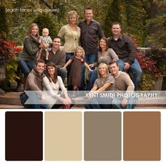 Great earth tone pallet with jeans. Book your family session TODAY!! More