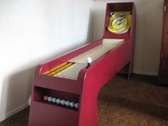 Homemade Skee Ball Game ~ oh my god I want this skee ball is my fav