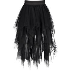 Midi Tulle Handkerchief Skirt (€17) ❤ liked on Polyvore featuring skirts, rosegal, knee length tulle skirt, midi skirt, mid calf skirts, calf length skirts and tulle skirts