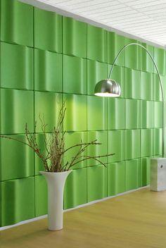 Commercial Office Lobby EchoPanel® Wave 361 Green