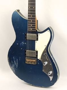 Lake Como Blue Novo Serus T (double-bound body, humbuckers, chopped guard and bridge)