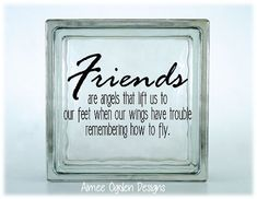 Friends are Angels That Lift Us to Our Feet DIY Kraftyblok / Glass Tile Vinyl Decal / Sticker available in different sizes on Etsy, $4.25