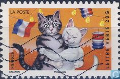 Postage Stamps - France [FRA] - Holiday - dancing cats
