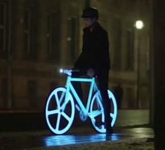 Electroluminescent painted bicycles just made night cycling way cooler