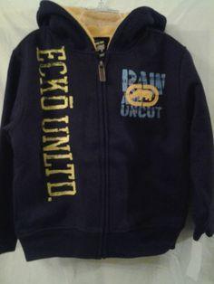$29.99 --Boys Ecko Unltd Hooded Jacket-Size 6- EggPlant w/Logo-Fleece Lining NWT $54