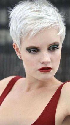 60 Favorite Short Hairstyles for Special Occasions - - Short Hairstyles - Hairstyles 2019 Latest Short Hairstyles, Short Hairstyles For Thick Hair, Short Pixie Haircuts, Pixie Hairstyles, Curly Hair Styles, Pretty Hairstyles, Short Punk Hair, Short Sassy Hair, Short Grey Hair