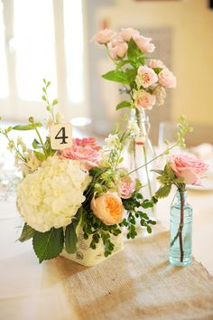 centerpieces vintage number sign