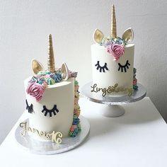 unicorn cake birthday party on Instagram