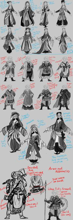 College Work: Alara and Dagny Concepts Pt. 2 by the-Orator on DeviantArt
