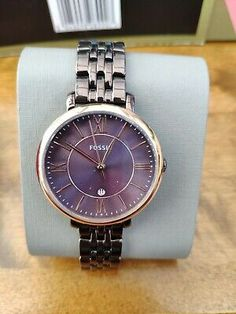 Ladies Fossil Watch | eBay Grid Watch, Anklet Designs, Watch Display, Fitness Bracelet, Fossil Watches, Michael Kors Watch, Ebay, Accessories, Fashion Styles