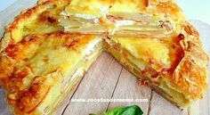 Pastel campesino con patatas y queso