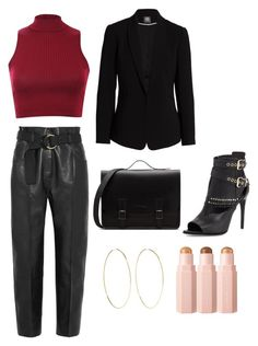 """Untitled #157"" by denisapurple on Polyvore featuring Pilot, Petar Petrov, Burberry, Vince Camuto and Magda Butrym"