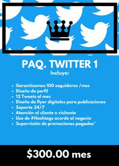 Paquete #twitter  #marketing #webdesign #socialmedia #queendigitalmarketing #marketingdigital