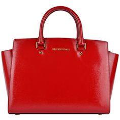 faaa866b8 Michael Michael Kors Patent Selma Satchel ($425) ❤ liked on Polyvore  featuring bags, handbags, purses, bolsas, dark red, satchel handbags, red  hand bags, ...