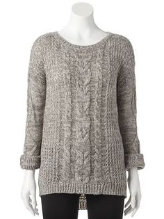 JJ Always Cable-Knit Sweater - Juniors #Kohls... I LOVE KOHLS SO MUCH
