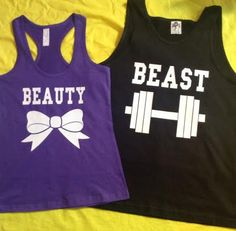 Free Shipping for US Beauty And The Beast Valentine's Day Matching Couples Tank Tops/Shirts: Black&Purple Different Version