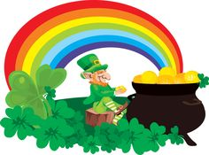 Great Clip Art for St. Patrick's Day: Pot of Gold at The End of The Rainbow