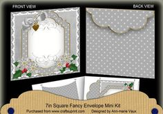 Silver Poinsettia Christmas 7x7inch Easy Envelope Mini Kit on Craftsuprint - Add To Basket!