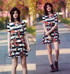Dress, H&M Boots, Asos Watch