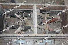 Mixing unit of asphalt batch mixing plant, India.