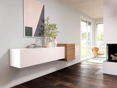 "Hängeschrank ""Formart von Fraubrunnen - Bild 10 - New Ideas Hall Furniture, Living Room Furniture, Furniture Design, Wall Cabinets Living Room, Home And Living, Living Room Designs, Bedroom Decor, Interior Design, Home Interior"