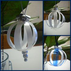 yogurt cups recycling for Christmas decoration