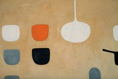 William Scott, Still Life with Sand Ground, 1971, Oil on canvas, 121.9 × 182.9 cm / 48 × 72 in, Private collection