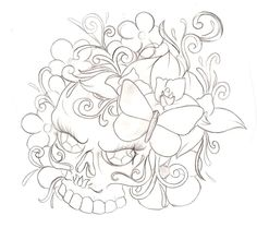 Sugar Skull Tattoo 4 by Metacharis.deviantart.com on @deviantART