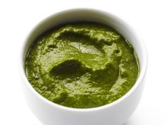 Spinach and Banana Puree recipe from Tyler Florence via Food Network
