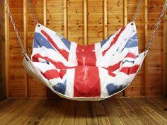 How to Make DIY Le Beanock Indoor Hammock with UK flag design