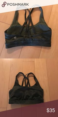 Lululemon camo energy bra Sz 4 Worn 1-2 times excellent condition size 4 lululemon energy bra pads included .. no stains .. no trades sorry lululemon athletica Intimates & Sleepwear Bras