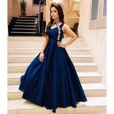 Adaa Khan Blue Taffeta Silk Gown