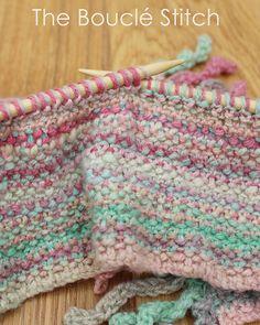 Ravelry: Bouclé Stitch Curlicue Scarf pattern by Kitty Falol