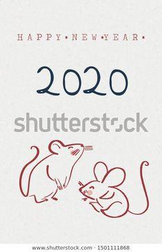 Happy New Year Year Rat Cute Stock Vector (Royalty Free) 1501111868 Happy New Year Images, Happy New Year Cards, Happy New Year 2020, Chineese New Year, Cartoon Rat, New Year Post, New Year Illustration, Chinese Cartoon, Chinese New Year 2020