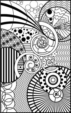 Pin for Later: 20 Free Coloring Book Printables Intricate Design An intricate design takes you out of your head and into the zone.